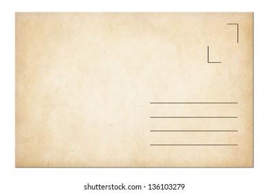postage envelope isolated on white
