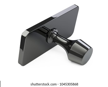 Postal rubber seal stamp. 3d illustration isolated over a white.