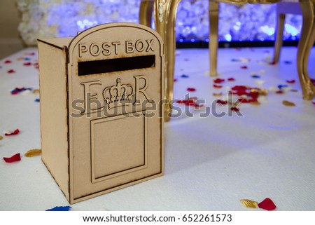 Postbox Wedding Gift Cards Stock Photo Edit Now 652261573
