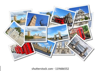 Postcard collage from London in England, United Kingdom. All photos taken by me and available also separately.