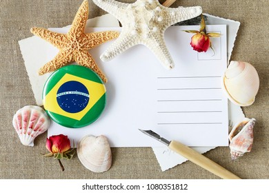 Postcard from holidays by the sea in Brasil. Vacation wishes.