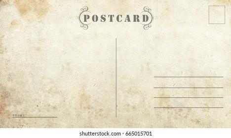Postcard template. Ready to use postal card.