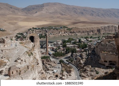Postcard from Turkey: ruins of ancient city of Hassankeyf, Batman  upon Tigris River