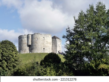 Postcard view of Cliffords Tower, York, North Yorkshire, England, UK