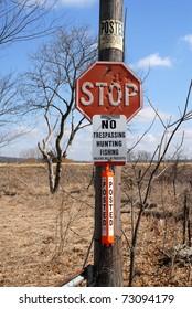 posted no trespassing hunting fishing