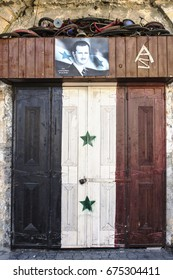 Poster bachar al Assad Jableh Syria 12/11/2015