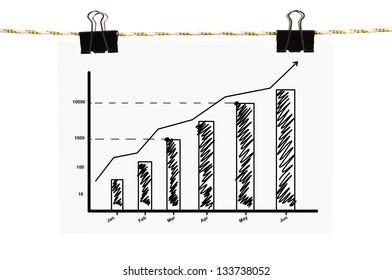 black poster chart hanging on rope stock illustration 137141687