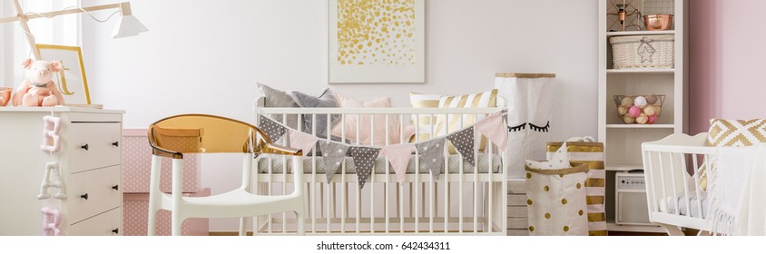 Poster hanged above the cradle in the baby room