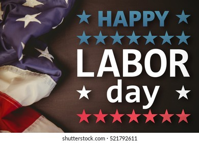 Poster of happy labor day text against white background with vignette