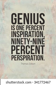 Poster with motivational quote by Thomas Edison