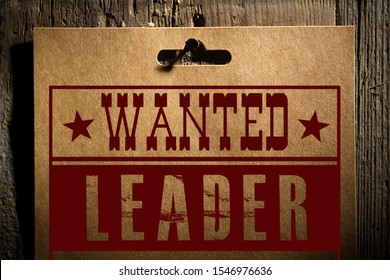 The poster on the theme of business - Wanted leader