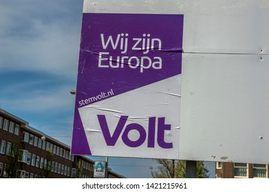 Poster From Volt Political Party At Amsterdam The Netherlands 2019