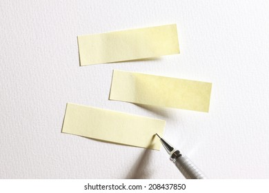 Post-It Note And Pen