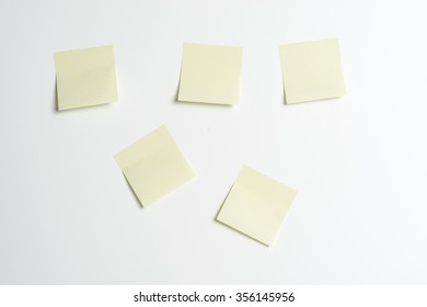 post-its on the wall as a reminder