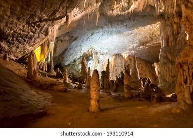 Postojna grotte in Slovenia
