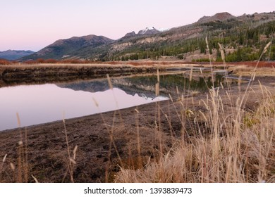 Post-sunset reflections of Slough Creek