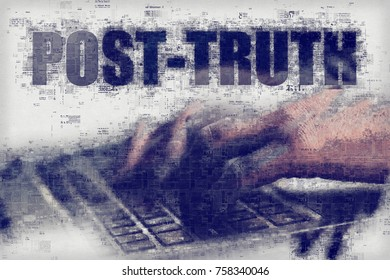 Post-truth or post-factual concept, shaping public opinion by appealing to emotion and personal belief