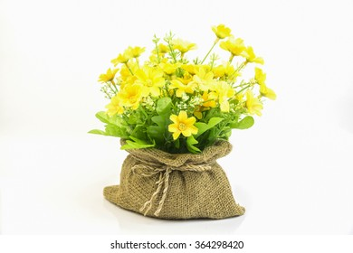 Yellow flower pot images stock photos vectors shutterstock a pot of beautiful orange autumn chrysanthemums isolated on white backgroundbeautiful bouquet of flower mightylinksfo