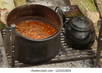 pot with goulash