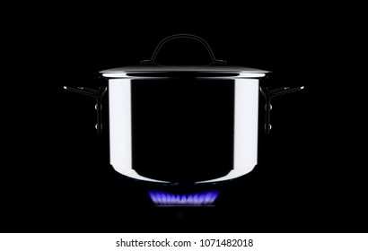 pot isolated on the black background 3d rendering
