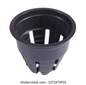Pot for planting plants on white background