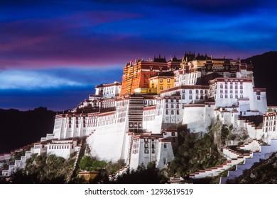 Potala palace during sunset