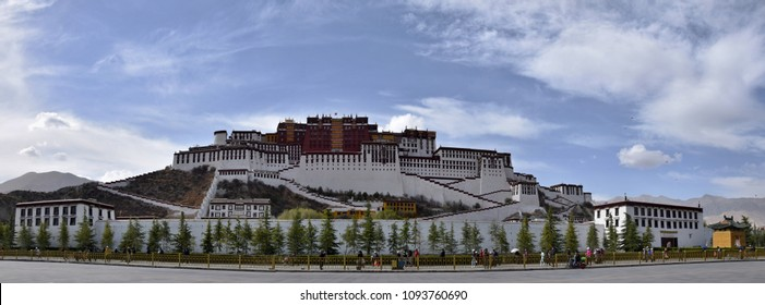 The Potala Palace, a dzong fortress in the city of Lhasa, in Tibet Autonomous Region. It was the winter palace of the Dalai Lamas till 1959. It is on a World Heritage Site since 1994.