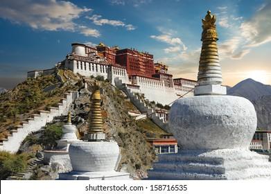 The Potala Palace in Lhasa - Tibet