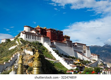 Potala palace in Lhasa, Tibet.Potala palace is now a museum and World Heritage Site of Tibet Autonomous Region.