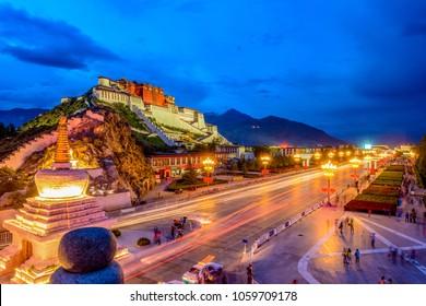Potala Palace night ?in Tibet of China