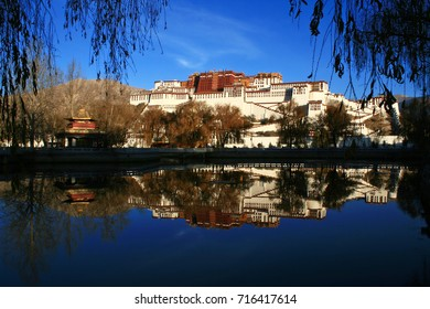 the Potala Palace and its reflection, Lhasa, Tibet