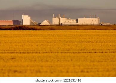 Potash Mine Saskatchewan farmers field agriculture environment