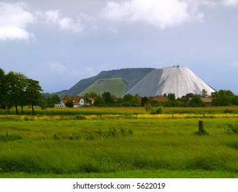 a potash mining dump near Steinhude, germany