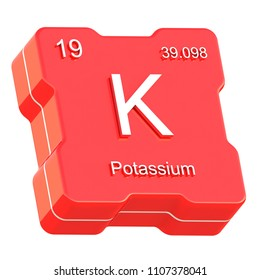 Potassium symbol k element periodic table stock illustration potassium element symbol from periodic table on futuristic red icon isolated on white background 3d render urtaz Choice Image