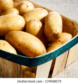 Potato in the basket, food backgrounds for your design