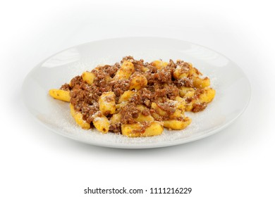 potato cavatelli with lamb sauce