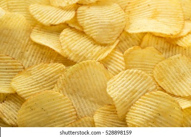 Potato chips, food background