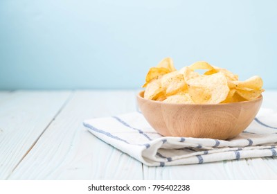 potato chips on plate - unhealthy food