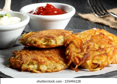 potato croquettes gray background