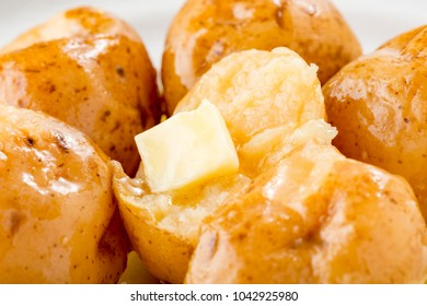 Potato dishes and butter