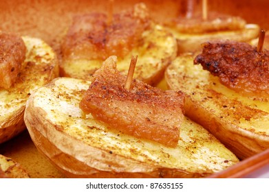potato with fat and spices