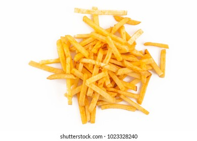 Potato free, chips isolated on the white background