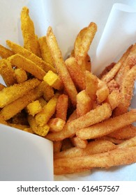 Potato fries with seasonings