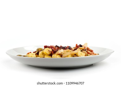 potato gnocchi with stockfish