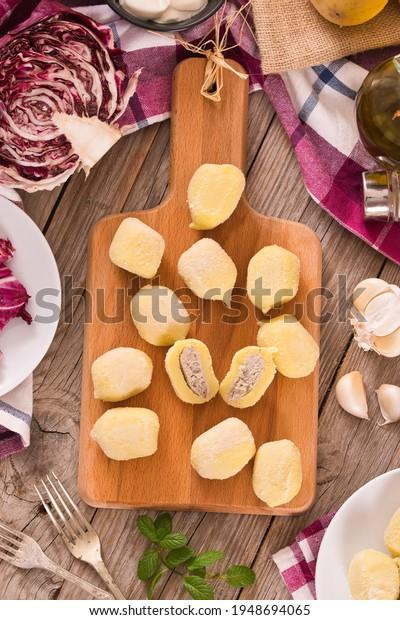 potato-gnocchi-stuffed-radicchio-ricotta