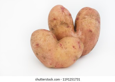 Potato hearts. Creative vegetables in the form of heart