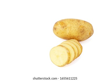 potato isolated on white background clipping path