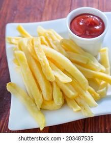 potato with ketchup