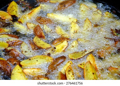 potato oil fryer hot