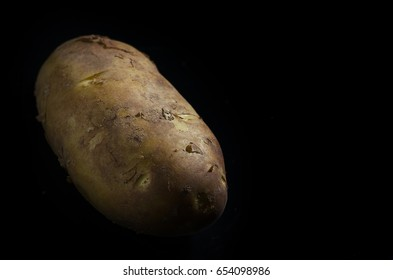potato on black bottom